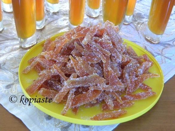 Caramelized Mandarin Peels