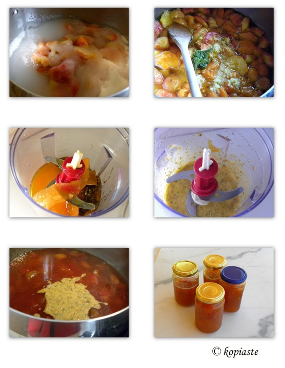 Collage Peach and Apricot ginger jam