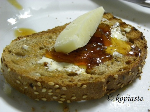 Lemon marmalade and kefalograviera
