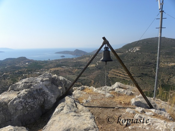 Bell and View from Profitis Elias